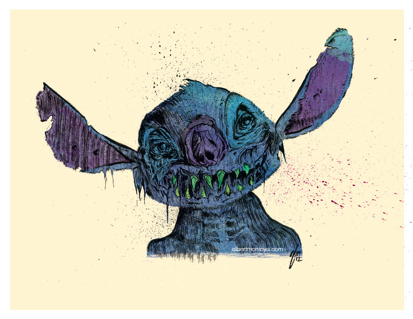 'Zombie Stitch' llustration of Disney's Lilo and Sitch ...