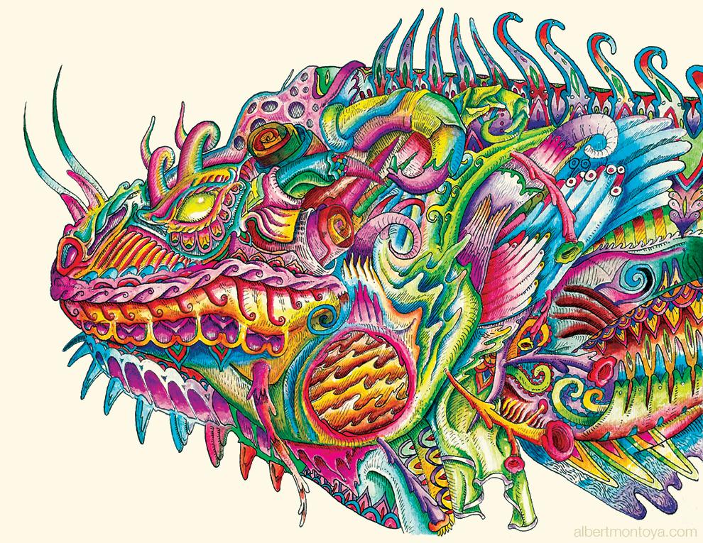 Iguana in Armor
