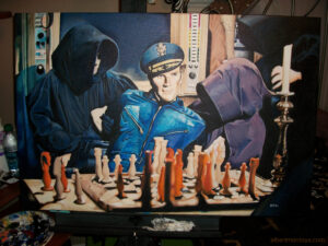 The Omega Man painting